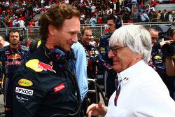 Christian Horner, Red Bull Racing, Sporting Director met Bernie Ecclestone