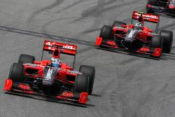 Timo Glock, Virgin Racing VR-01, Lucas di Grassi, Virgin Racing