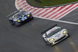 #72 Luc Alphand Aventures Corvette C6.R: Julien Jousse, Stephan Gregoire, David Hart, #60 Matech Competition Ford GT: Thomas Mutsch, Jonathan Hirschi, Mathias Beche