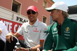 Lewis Hamilton, McLaren Mercedes, Heikki Kovalainen, Lotus F1 Team