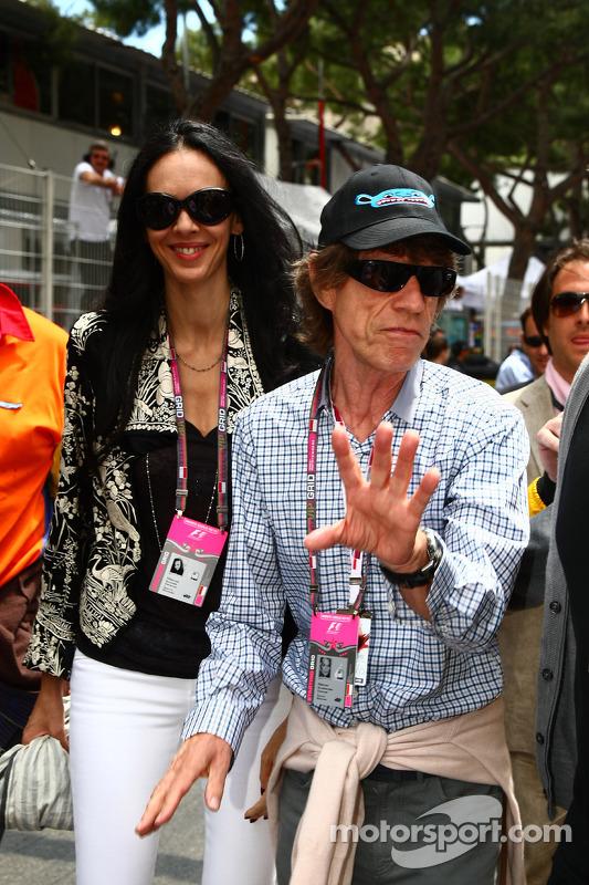 Mick Jagger At Monaco Gp Formula 1 Photos