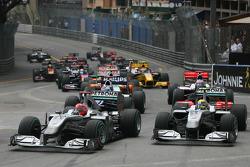 Михаэль Шумахер, Mercedes GP, старт гонки