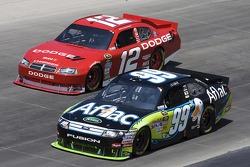 Brad Keselowski, Penske Racing Dodge and Carl Edwards, Roush Fenway Racing Ford