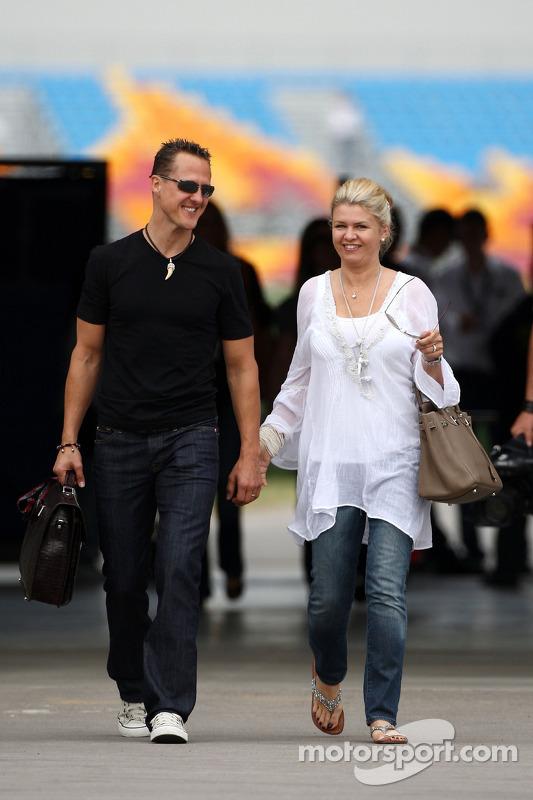 Michael Schumacher, Mercedes GP, Corina Schumacher, Corinna, Wife of Michael Schumacher at ...