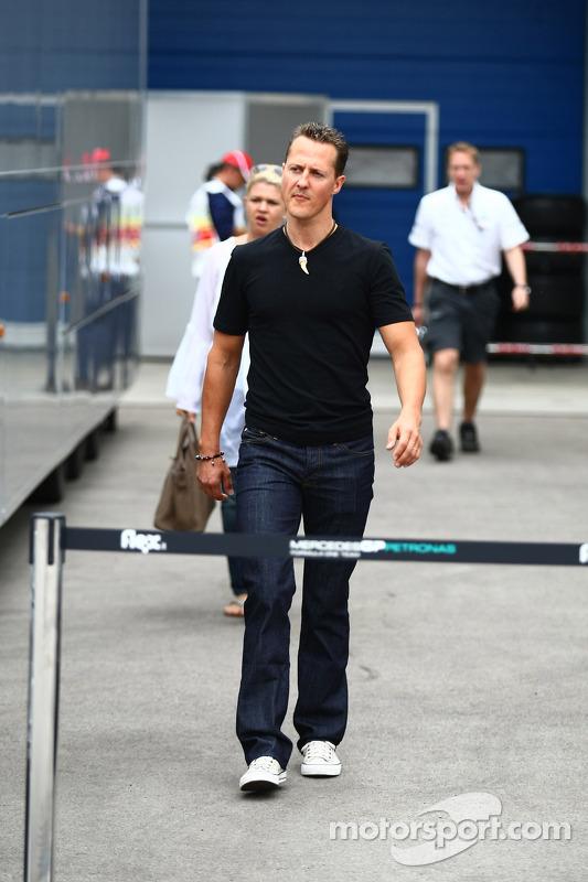 Michael Schumacher, Mercedes GP en Corina Schumacher, Corinna, vrouw van Michael Schumacher