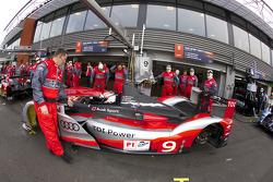 #9 Audi Sport North America Audi R15 TDI: Timo Bernhard, Romain Dumas, Mike Rockenfeller