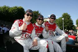 Timo Bernhard, Mike Rockenfeller and Romain Dumas
