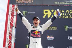 Podium: pemenang Mattias Ekstrテカm, EKS RX