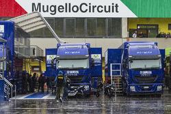 Regen im Fahrerlager von Mugello