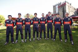 Marc Marti, Daniel Sordo, Nicolas Gilsoul, Thierry Neuville, Kevin Abbring, Sebastian Marshall, Hayden Paddon, John Kennard, Hyundai Motorsport