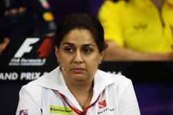 Мониша Кальтенборн, руководитель Sauber Team Principal на пресс-конференции FIA