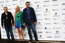Gene Haas, Teambesitzer Haas F1, und Günther Steiner, Haas F1 Teamchef, bei der Amber Lounge Fashion Show