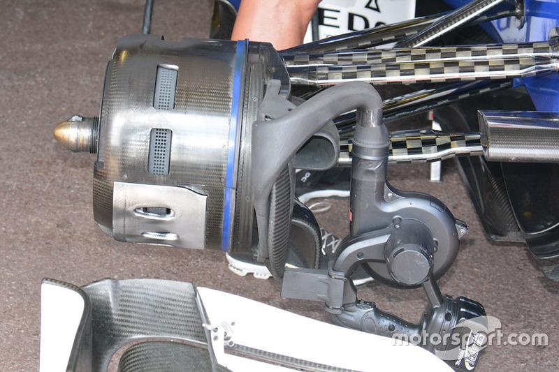 Sauber C35 remmen, detail