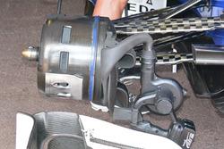 Sauber C35, vordere Bremsbelüftung