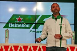Gianluca di Tondo Heineken director de marca Global anuncia un patrocinio de F1 trata anuncio