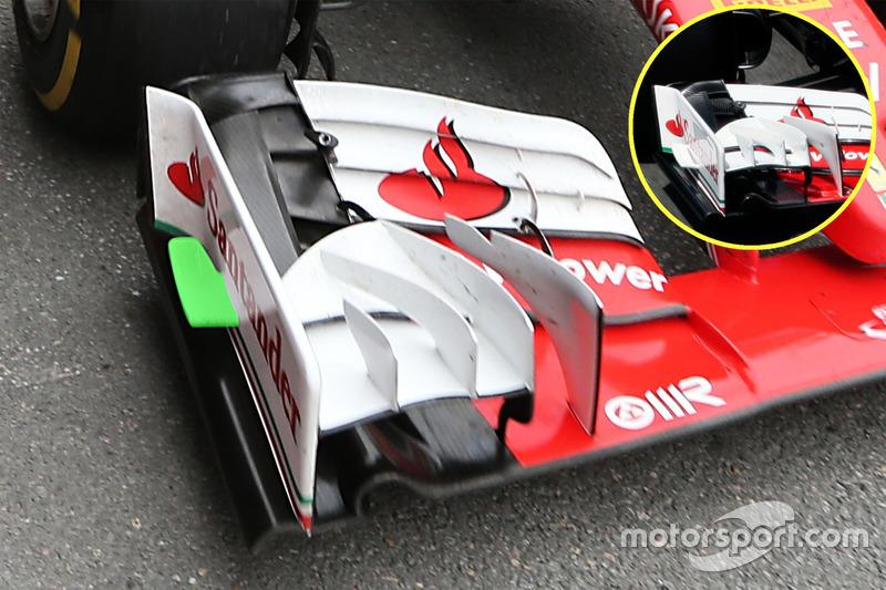 Ferrari SF16-H voorvleugel detail