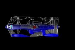 Designstudie von TEOS für ein Formel-E-Chassis