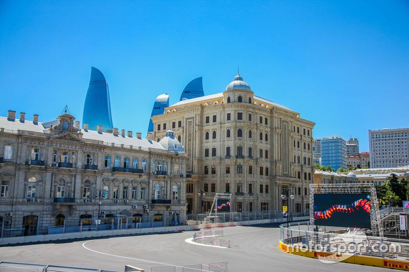 Circuito ciudad de Bakú curva 16