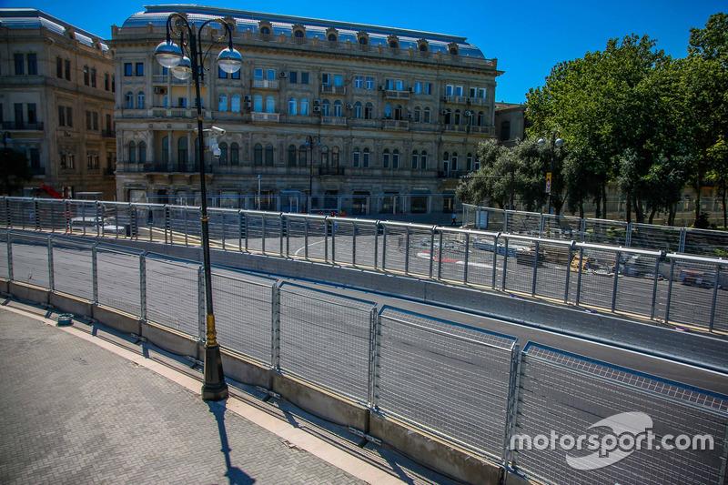 Baku, la curva 7 del circuito cittadino