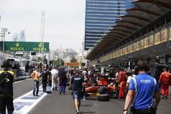 La pit lane GP2
