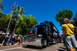 Lastwagen-Parade