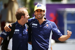 Felipe Nasr, Sauber, mit Joseph Leberer, Sauber, Physiotherapeut
