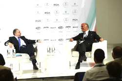 Automobile Club d'Italia President Angelo Sticchi Damiani and FIA president Jean Todt