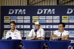 Conferencia de prensa: Marco Wittmann, BMW Team RMG, BMW M4 DTM; Jamie Green, Audi Sport Team Rosberg, Audi RS 5 DTM; Robert Wickens, Mercedes-AMG Team HWA, Mercedes-AMG C63 DTM