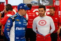 Ricky Stenhouse Jr., Roush Fenway Racing Ford, Kyle Larson, Chip Ganassi Racing Chevrolet