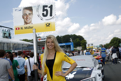 Grid girl of Nico Müller, Audi Sport Team Abt Sportsline, Audi RS 5 DTM