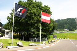 Austrian and F1 flags