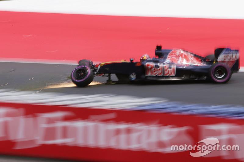 Problemi per Daniil Kvyat, Scuderia Toro Rosso