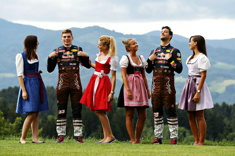 Даніель Ріккардо, Red Bull Racing, Макс Ферстаппен, Red Bull Racing та дівчата Формули 1