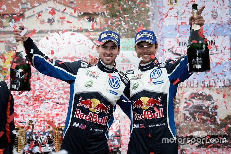 Ganadores Andreas Mikkelsen, Anders Jäger, Volkswagen Polo WRC, Volkswagen Motorsport