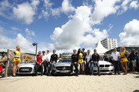 Автомобілі безпеки Audi, Mercedes-Benz, BMW  на пляжі з Тімо Шайдер, Audi Sport Team Phoenix; Адріен Тамбе, Audi Sport Team Abt; Ніко Мюллер, Audi Sport Team Росберг; Роберт Уікенз, HWA; Лукас Ауер, Mercedes-AMG DTM Team Mücke; Крістіан Фіторіс, Mercedes AMG-Team Mücke Motorsport; Том Бломквіст, BMW Team RBM; 11 Марко Віттманн, BMW Team RMG; Максим Мартен, BMW Team RMG