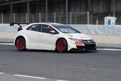 Honda Civic WTCC Barcelona testing