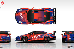 Ata Cycling Porsche Supercup livery design