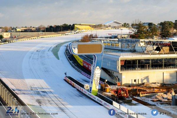 Le Mans nevado. Foto: Le Mans