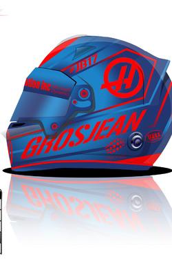 Romain Grosjean 2017 helmet concept