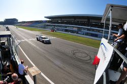 ADAC GT Masters Race 2 - Landmann / Rast taking the checkered flag and the victory