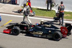 Pietro Fittipaldi sur la grille de départ