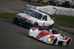 Kurt Busch (#61 Road Shagger Racing BMW) and Davidson Racing #17