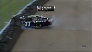 Hamlin With Bad Crash -  Watkins Glen International 2011