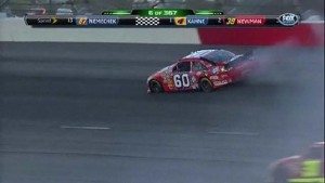 Skinner Hits The Wall - Darlington Raceway 2011