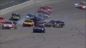 Big Pile-Up On Backstretch - Talladega Superspeedway 2011