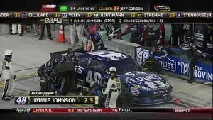 Johnson's Crew Makes Critical Mistake - Homestead - 11/18/2012