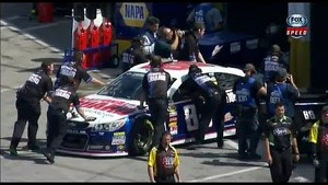 Dale Jr blows a motor during 2013 Daytona 500 practice