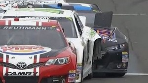 NASCAR Harraka Kennedy Crashes Leaving Pit Road | Sonoma, 2013