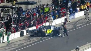 NASCAR Clements spins into pit road   Indiana 250