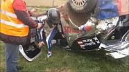 Robert Kubica crash during testing before Rally of Poland ( Rajd Polski wypadek )